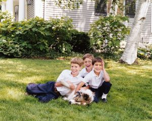Collie and Three Brothers