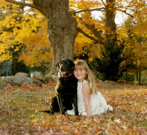 Girl With Her Black Lab