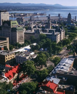 Bird's Eye View of Quebec City